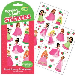 Scratch & Sniff Sticker Packs - Strawberry Princesses