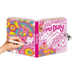 Lock & Key Diaries - Rainbow World Foil Coloring