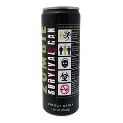 Zombie Survival Can Energy Drink - 12 oz.