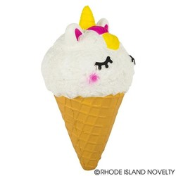 "7.5"" Squish Unicorn Ice Cream Cone"