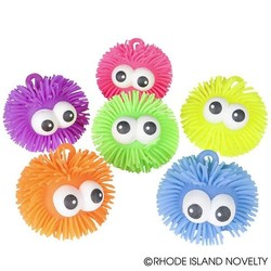 "5"" Puffer Ball with Big Eyes Assorted Colors"