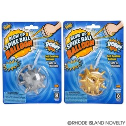 "2.75"" Blow Up Spike Ball Balloon Assorted Colors"