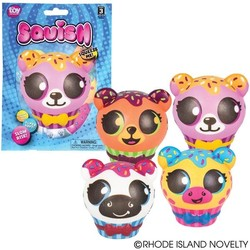 "3.5"" Squish Zoo Animal Cupcake Assorted Styles"