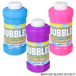 8 oz. Bubble Bottle Assorted Colors