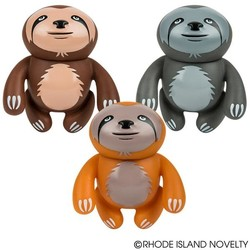 "5.5"" Rubber Sloth with Sound Assorted Styles"