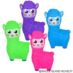 "6.5"" Rubber Alpaca with Sound Assorted Styles"