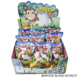 """3"""" Zoo Animals Fizzy Egg Assorted Styles"""