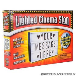 "12"" Lighted Cinema Sign Box"