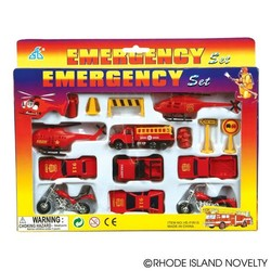15 Piece Diecast Fire Team Car Set