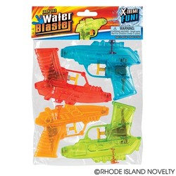 "5"" Transparent Water Squirter Gun 4 Pack"