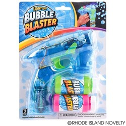 "7"" Blue Light Up Bubble Blaster With Sound"