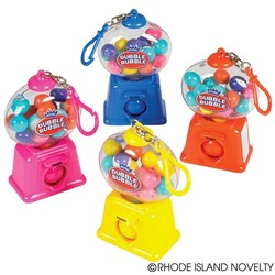 "4"" Dubble Bubble Gumball Dispenser Keychain Assorted Colors"