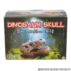 """6.5"""" Dinosaur Skull Excavation Dig Kit Triceratops"""