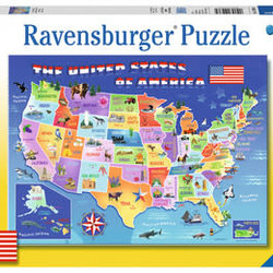 USA State Map - 100 Piece XXL Puzzle