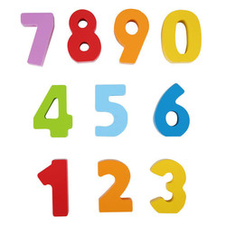 Wooden Numbers & Colors