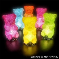 "10"" Sparkle Gummy Bear Lamp"