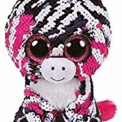"Beanie Boos - Flippables - Zoey Zebra - Small 6"""