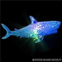 "7.5"" Light Up Squeezy Bead Shark"