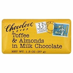 Toffee & Almonds in Milk Chocolate Mini 1.2 oz Bar