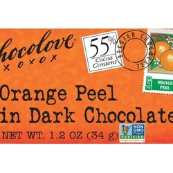 Orange Peel in Dark Chocolate Mini 1.3 oz Bar