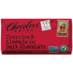 Cherries & Almonds in Dark Chocolate Mini 1.3 oz Bar
