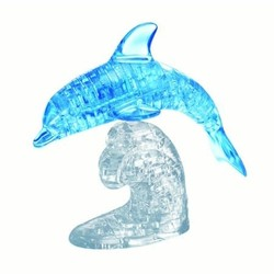 3D Crystal Puzzle Deluxe - Blue Dolphin