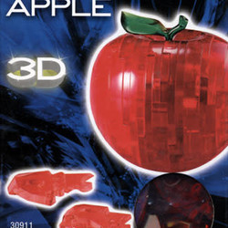 3D  Crystal Puzzle - Red Apple
