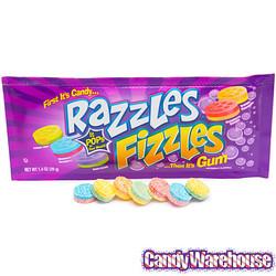 Razzles Fizzles Assorted Gum Pouch