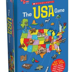 Scholastic Race Across the USA Game Tin
