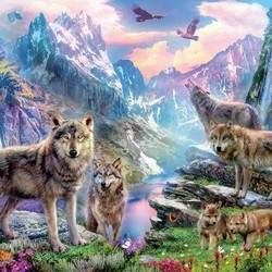 Spring Wolves - 1000 Piece Puzzle