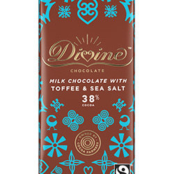 3.5 oz. Milk Chocolate with Toffee and Sea Salt Bar