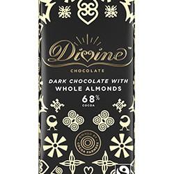 3.5 oz. Dark Chocolate with Whole Almonds Bar