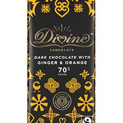 3.5 oz. 70% Dark Chocolate with Ginger & Orange Bar
