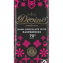 3.5 oz. 70% Dark Chocolate with Raspberries Bar