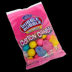 Dubble Bubble Cotton Candy Gumballs 4 oz. Peg Bag