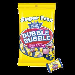 Dubble Bubble Sugar Free 3.25 oz. Peg Bag