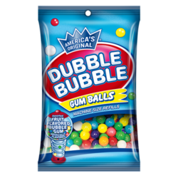 Dubble Bubble Assorted Gumballs Machine Refill 5 oz. Peg Bag