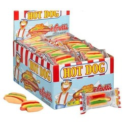 E Frutti Gummi Hot Dog - 60 Piece Box