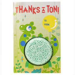 Play foam Thank You Card - Dinosaur
