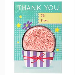 Play foam Thank You Card - Cupcake