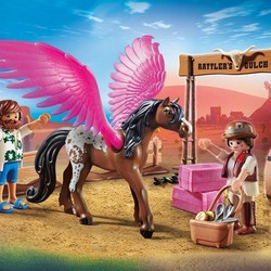 Playmobil The Movie - Marla and Del with Flying Horse