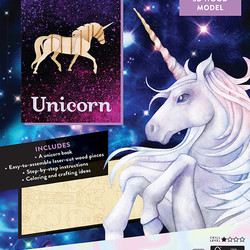 IncrediBuilds - Animals - Unicorn Book and 3D Wood Model