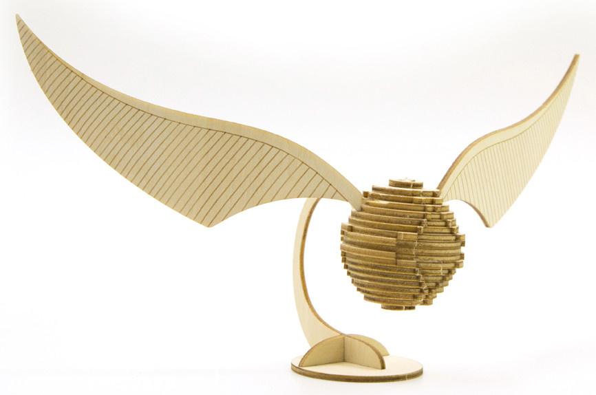 IncrediBuilds IncrediBuilds - Harry Potter - Golden Snitch 3D Wood Model  and Booklet