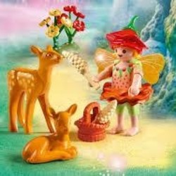 Fairy Girl with Fawns