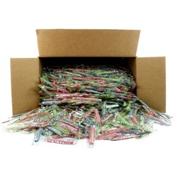 "Assorted Wrapped Sour Punch 3"" Twists - 25 lb. Bag"