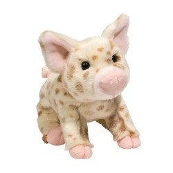 Mud Pie Brown Pig Sitting 10""