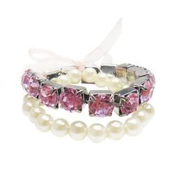 Princess Pearl Bracelet Set (2 pcs)