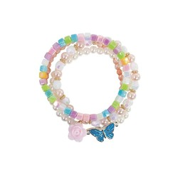 Pearly Butterfly Bracelet Set