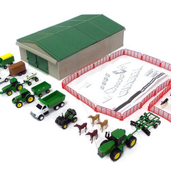 1:64 John Deere Farm Toy Play Set - 70 Pieces