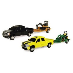 "1:32 8"" John Deere Pick Up Hauling Set Assorted Styles"